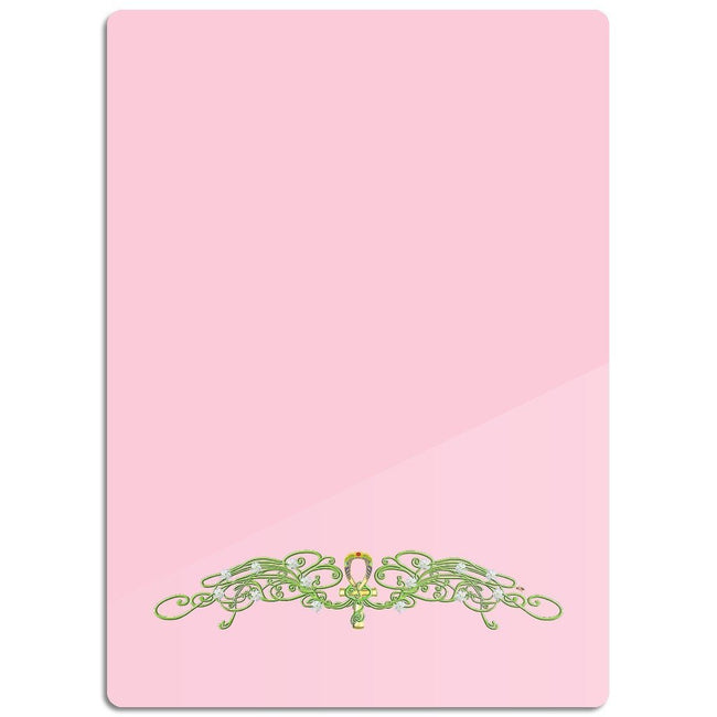 Jasmine Border Glass Cutting Board