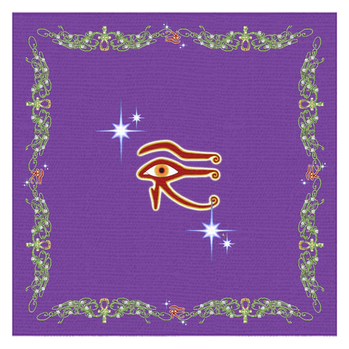 Eye of Isis/Auset with Double Jasmine Border Tablecloth