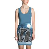 Bast Moon Over Stonehenge Dress