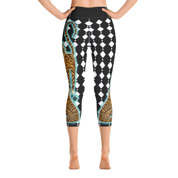 Tara's Tiger Yoga Capri Leggings