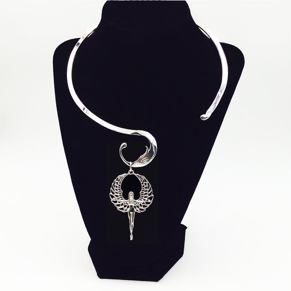 "Phoenix Fyr™ 925 Sterling Silver 'Eye of Ra' 19.5"" Collar Necklace"