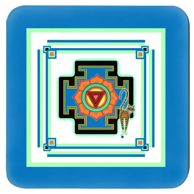 Tara's Yantra Premium Cork Backed Coasters