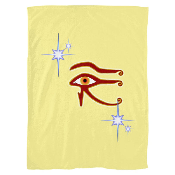 Eye of Isis/Auset Fleece Blanket (P)