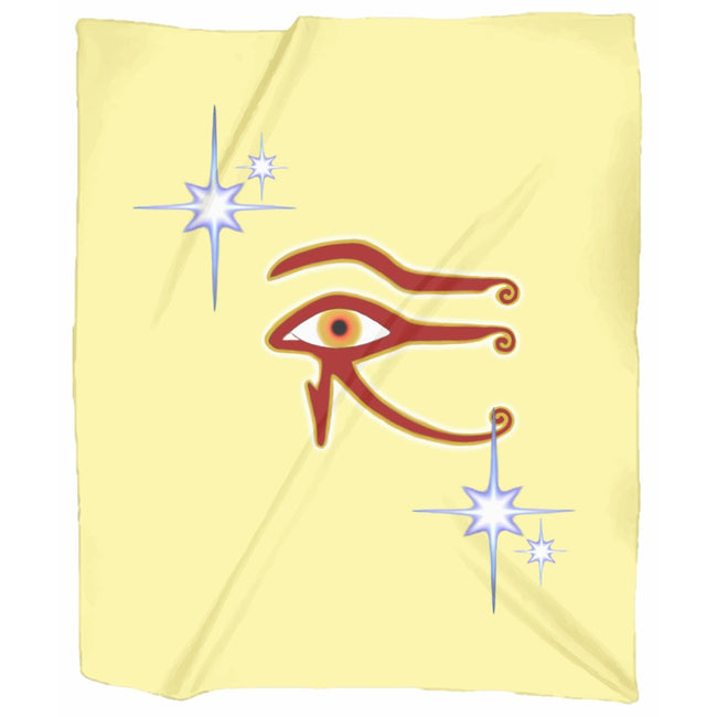 Eye of Isis/Auset Jersey Blanket (P)