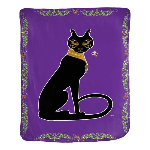 Bast with Double Jasmine Border Velveteen Blanket (P)
