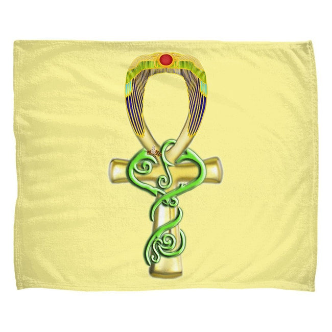 Ankh Fleece Blanket (L)
