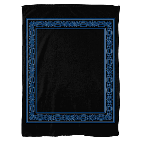 Gaelic Knotwork Frame Fleece Blanket