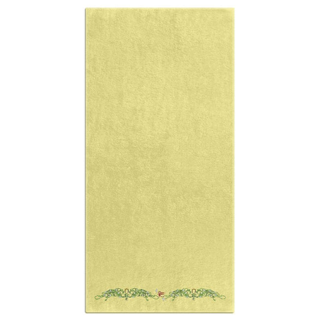Double Jasmine Border Bath Towel (HD)