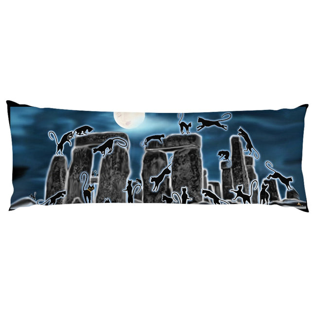 Bast Moon Over Stonehenge Body Pillow Case