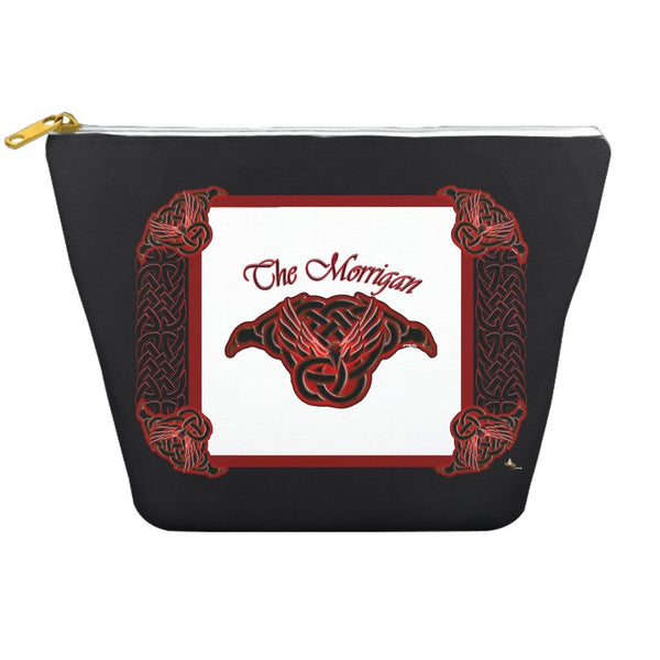The Morrigan Raven-Knot with Knotwork Frame Dopp Kit
