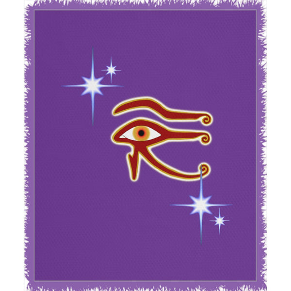 Eye of Isis/Auset Woven Blanket (P)