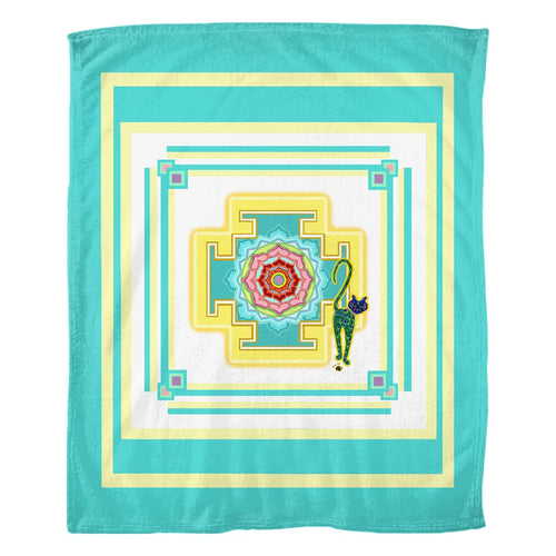 Saraswati's Yantra Fleece Blanket