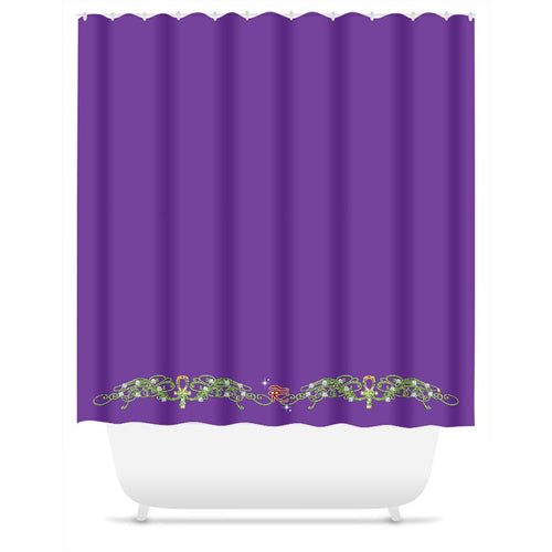 Double Jasmine Border Shower Curtain