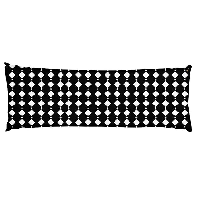 Black & White Double Diamond Body Pillow Case
