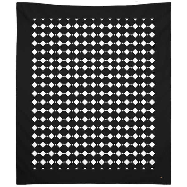 Black & White Double Diamond Tapestry (P)