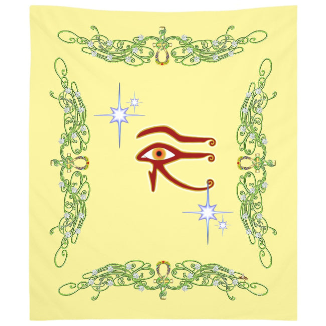 Eye of Isis/Auset with Jasmine Border Tapestry (P)