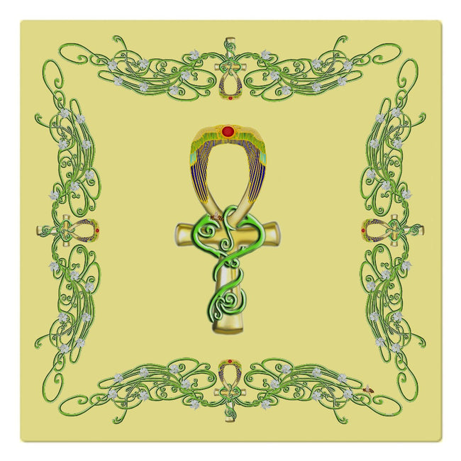 Ankh with Jasmine Border Cloth Napkin