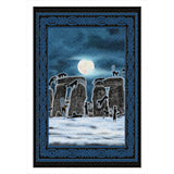 Bast Moon Over Stonehenge with Border Rug (P)