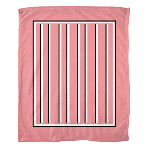 Love Stripes Fleece Blanket