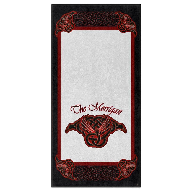 The Morrigan Raven-Knot with Knotwork Frame Bath Towel (HD)