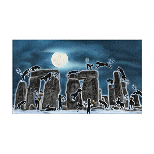Bast Moon Over Stonehenge Rug (L)
