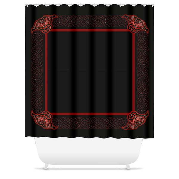Celtic Knotwork Frame Shower Curtain