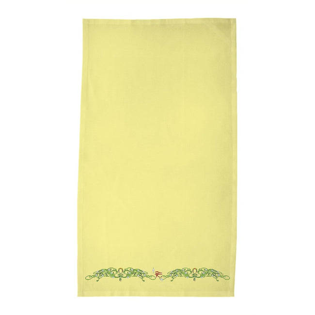 Double Jasmine Border Tea Towel (HD)