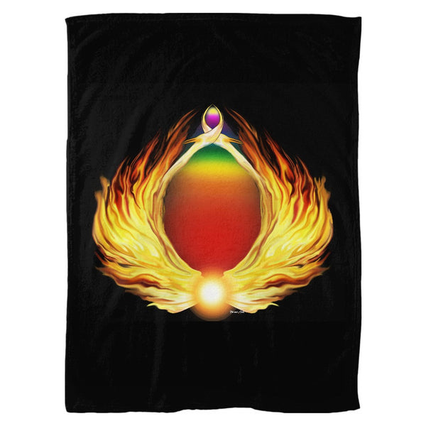 Phoenix Gate Fleece Blanket