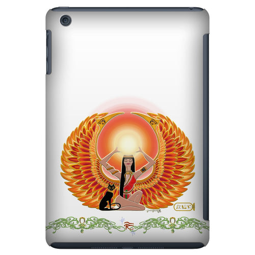 Isis/Auset with Double Jasmine Border iPad Mini Tablet Case