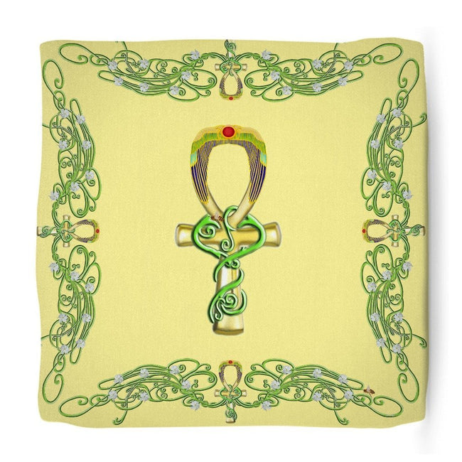 Ankh with Jasmine Border Ottoman