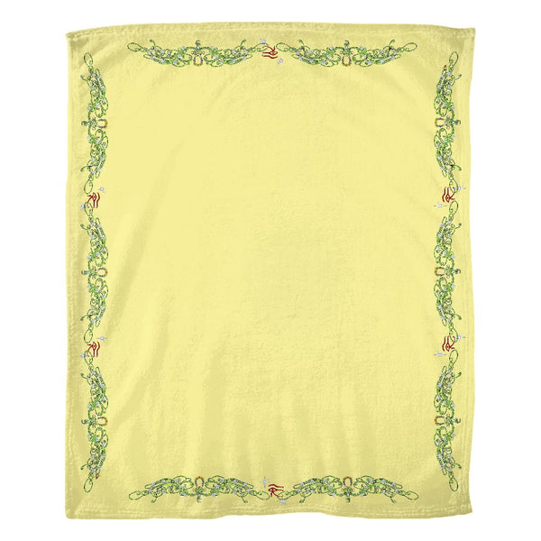 Double Jasmine Border Fleece Blanket (L)