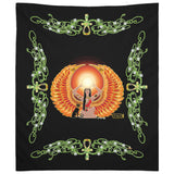 Isis/Auset with Jasmine Border Tapestry (P)