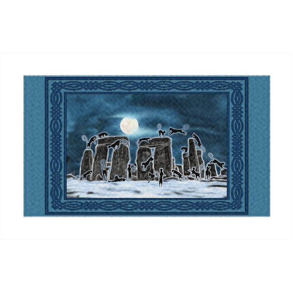 Bast Moon Over Stonehenge with Border Rug (L)