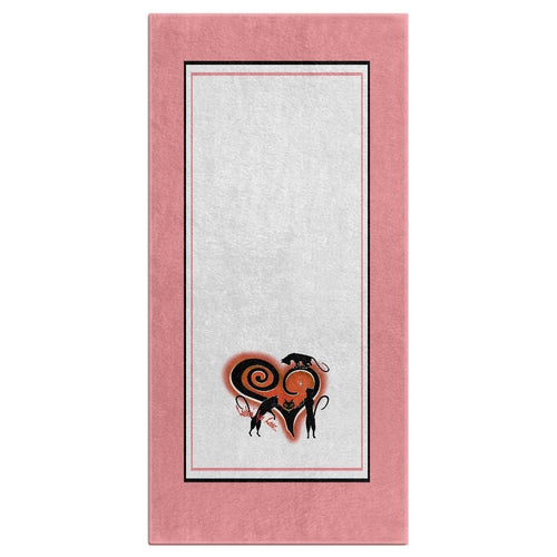 Lookin' For Love with Border Bath Towel (HD)