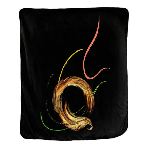 Spiral Dancer Velveteen Blanket (F)