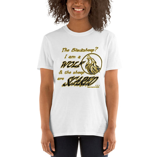 I am a Wolf Gold Script Short-Sleeve Unisex T-Shirt Special