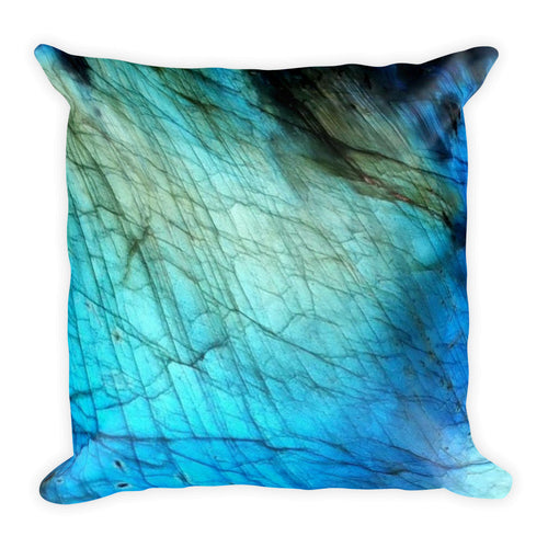 Blue & Gold Labradorite Pillow