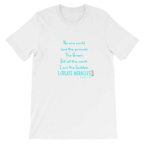 I am the Goddess (Turquoise) Unisex Short Sleeve T-Shirt