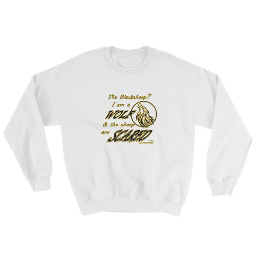 I am a Wolf with Gold Shadow Sweatshirt