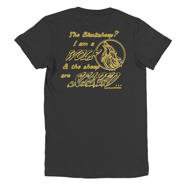 I am a Wolf with Gold Shadow Women's Short Sleeve Jersey T-Shirt (TS)