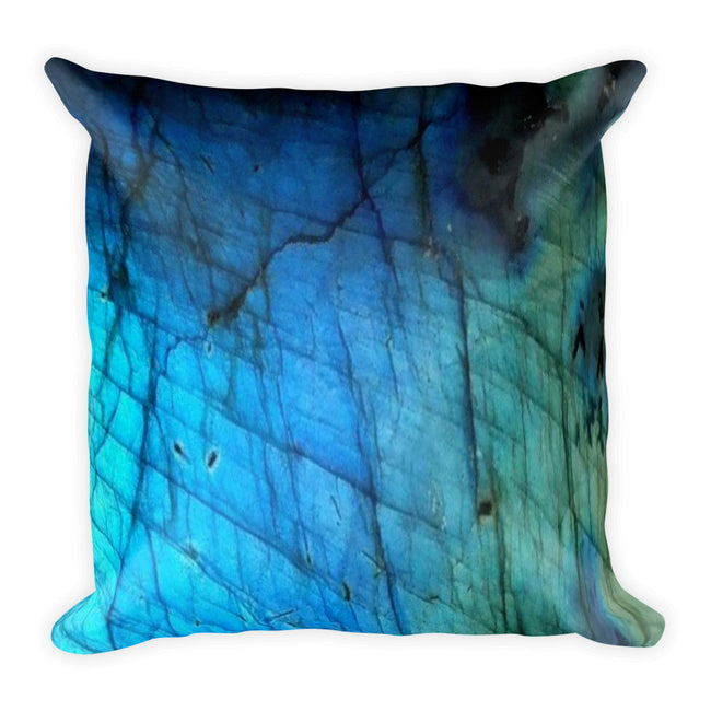 Blue & Teal Labradorite Pillow