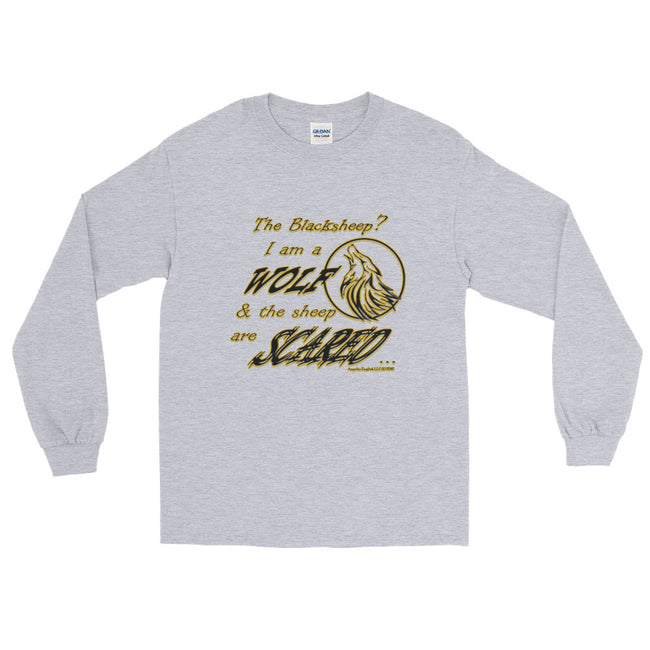 I am a Wolf Gold Shadow Long Sleeve T-Shirt