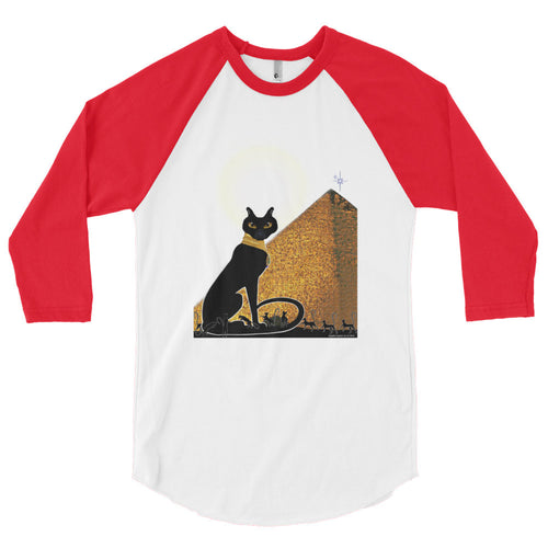Bast Buddies Great Pyramid Unisex 3/4 Sleeve Raglan Shirt