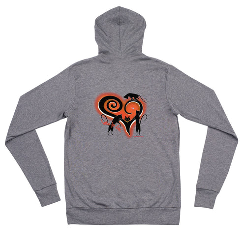 Lookin For Love Unisex Zip Hoodie