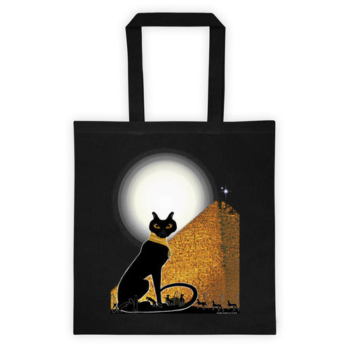 Bast Buddies Great Pyramid Black Tote Bag