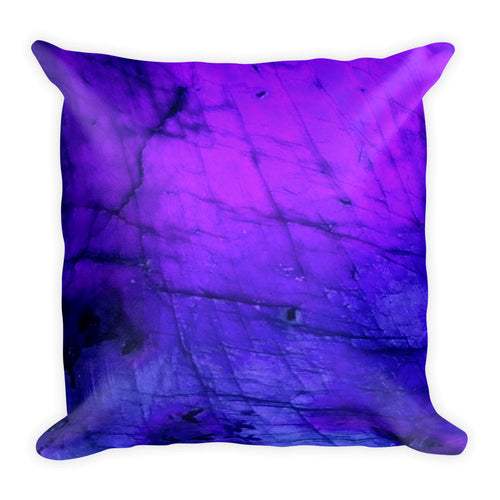Blue & Violet Labradorite Pillow