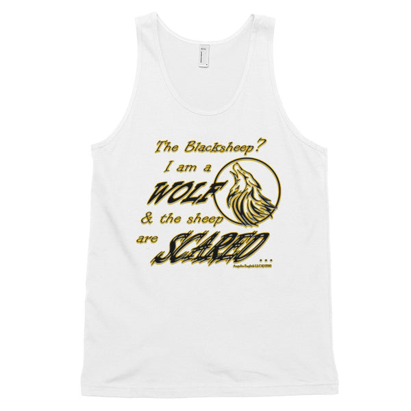 I am a Wolf with Gold Shadow Classic Unisex Tank Top