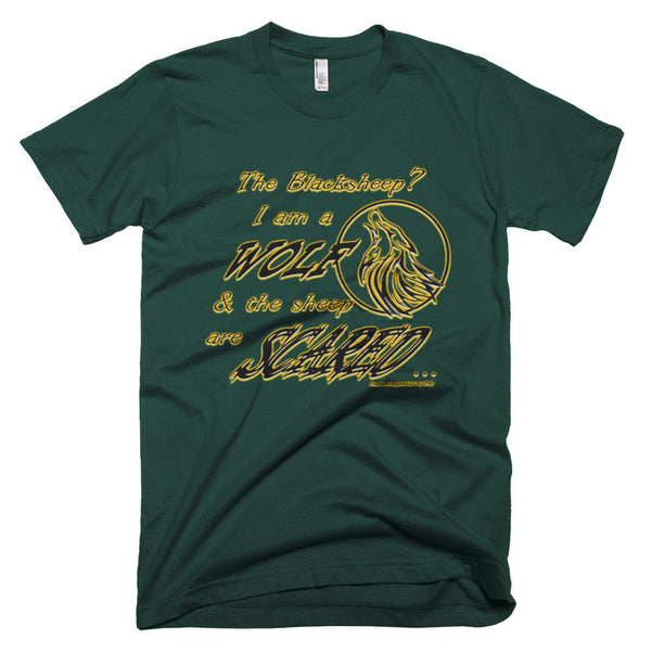 I am a Wolf with Gold Shadow Men's Short Sleeve T-shirt