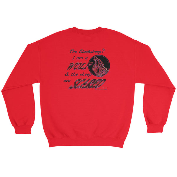 I am a Wolf with Red Shadow Sweatshirt (TS)
