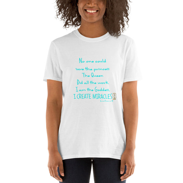 I am the Goddess Turquoise Script Short-Sleeve Unisex T-Shirt Special